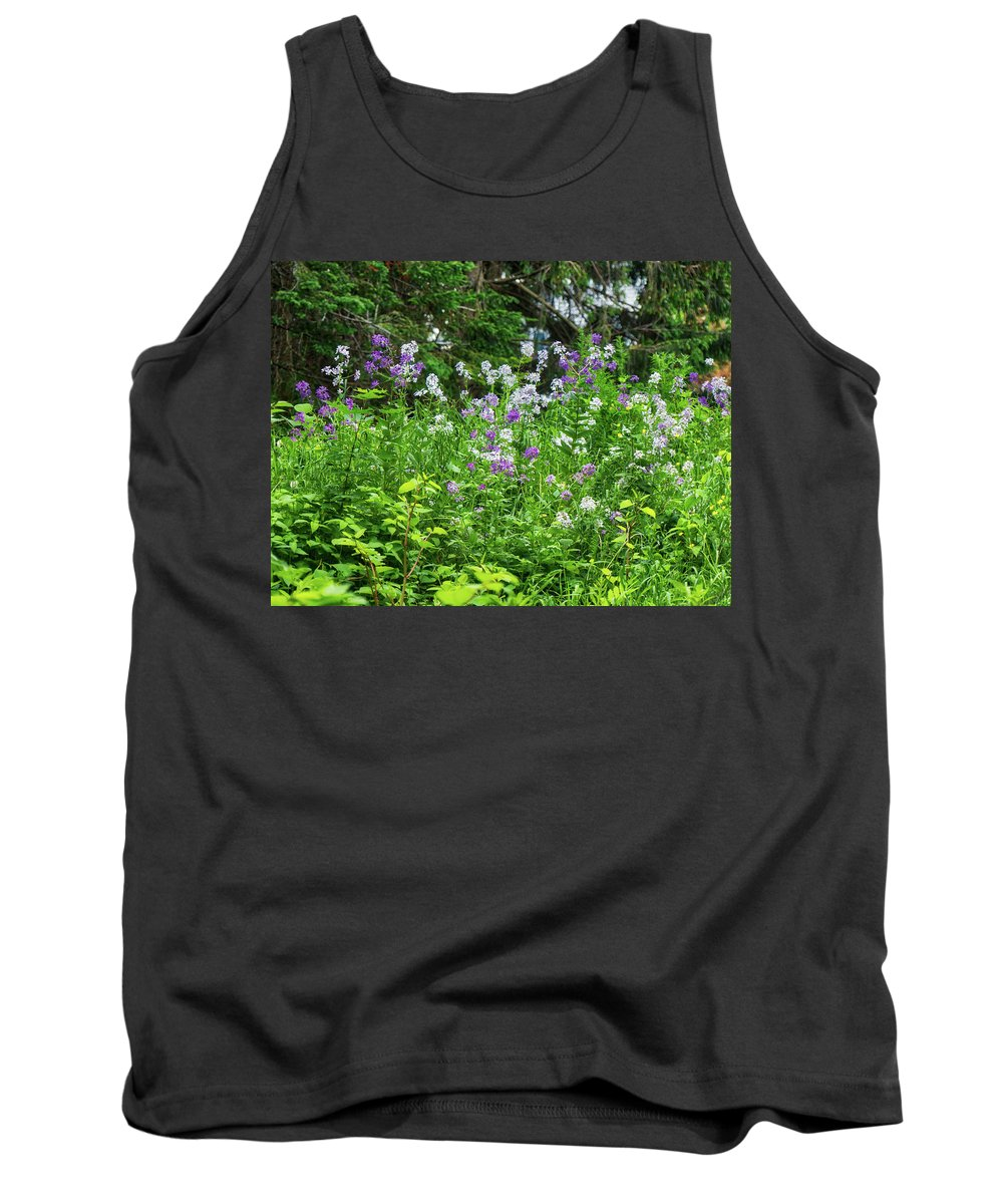 Flowers Tank Top featuring the photograph Wildflowers On Green's Hills by Scott Hufford