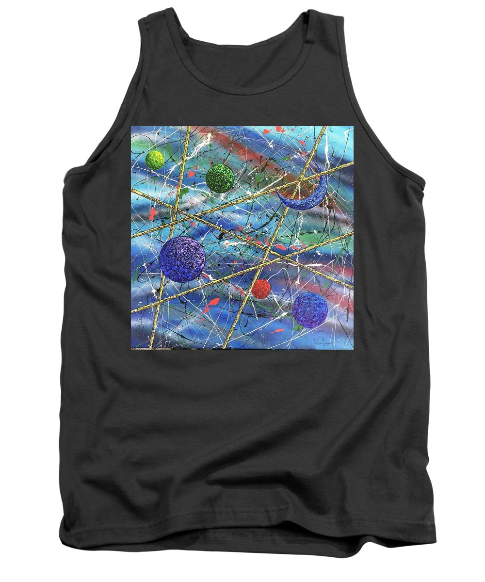Abstract Tank Top featuring the painting Crescent #2 by Micah Guenther