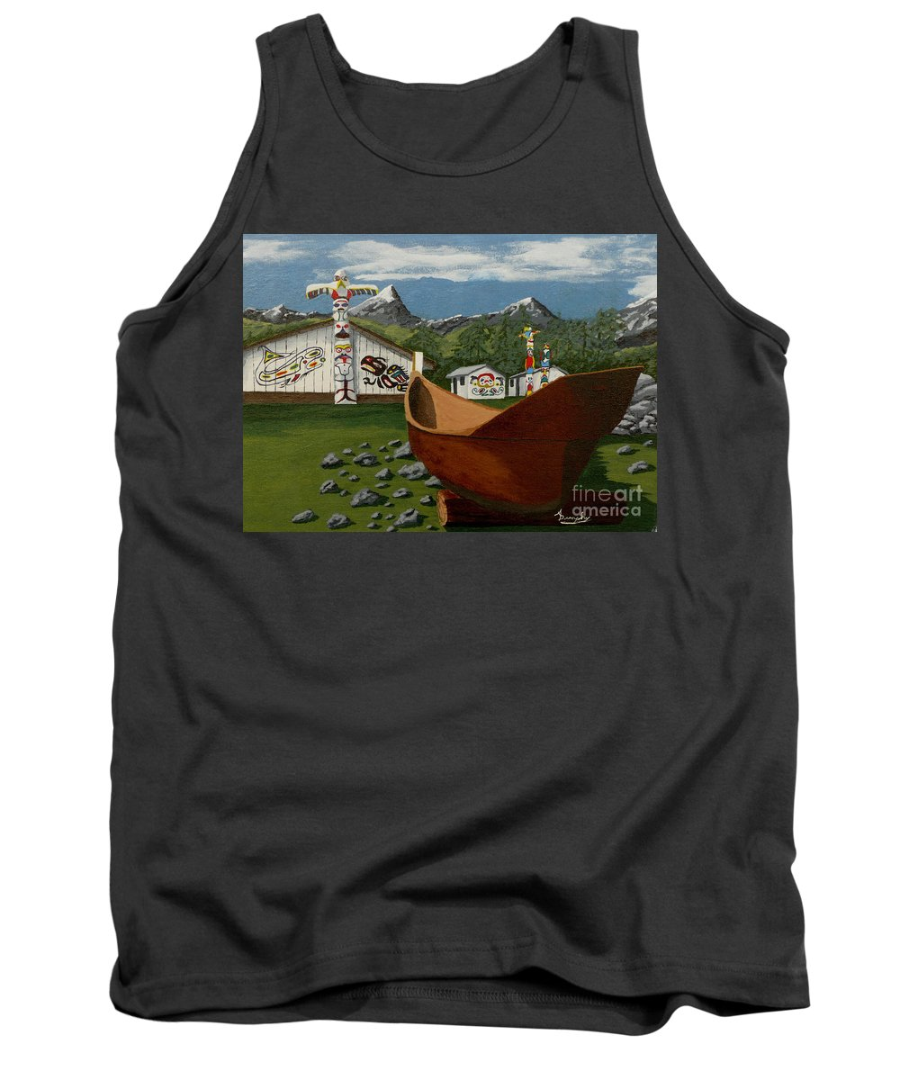 Haida Tank Top featuring the painting Haida by Anthony Dunphy