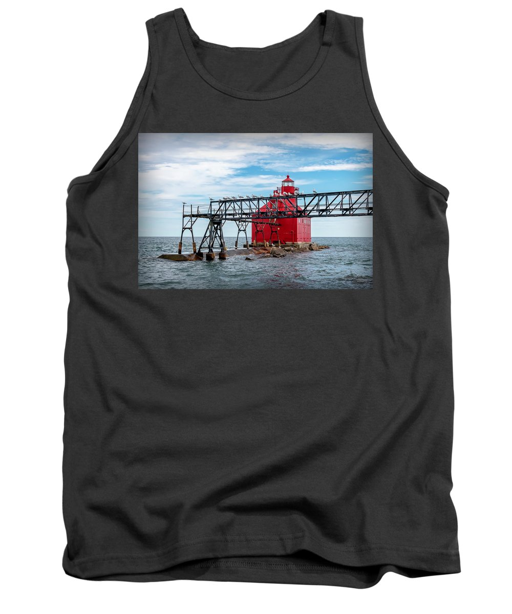 Lighthouse Tank Top featuring the photograph 20-0607-0041 by Anthony Roma