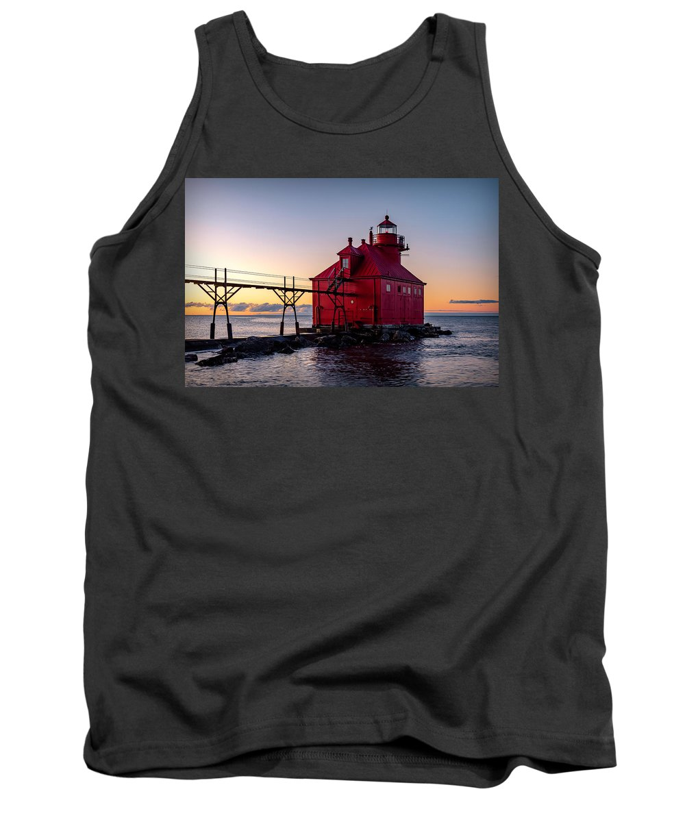 Lighthouse Tank Top featuring the photograph 20-0611-0324 by Anthony Roma