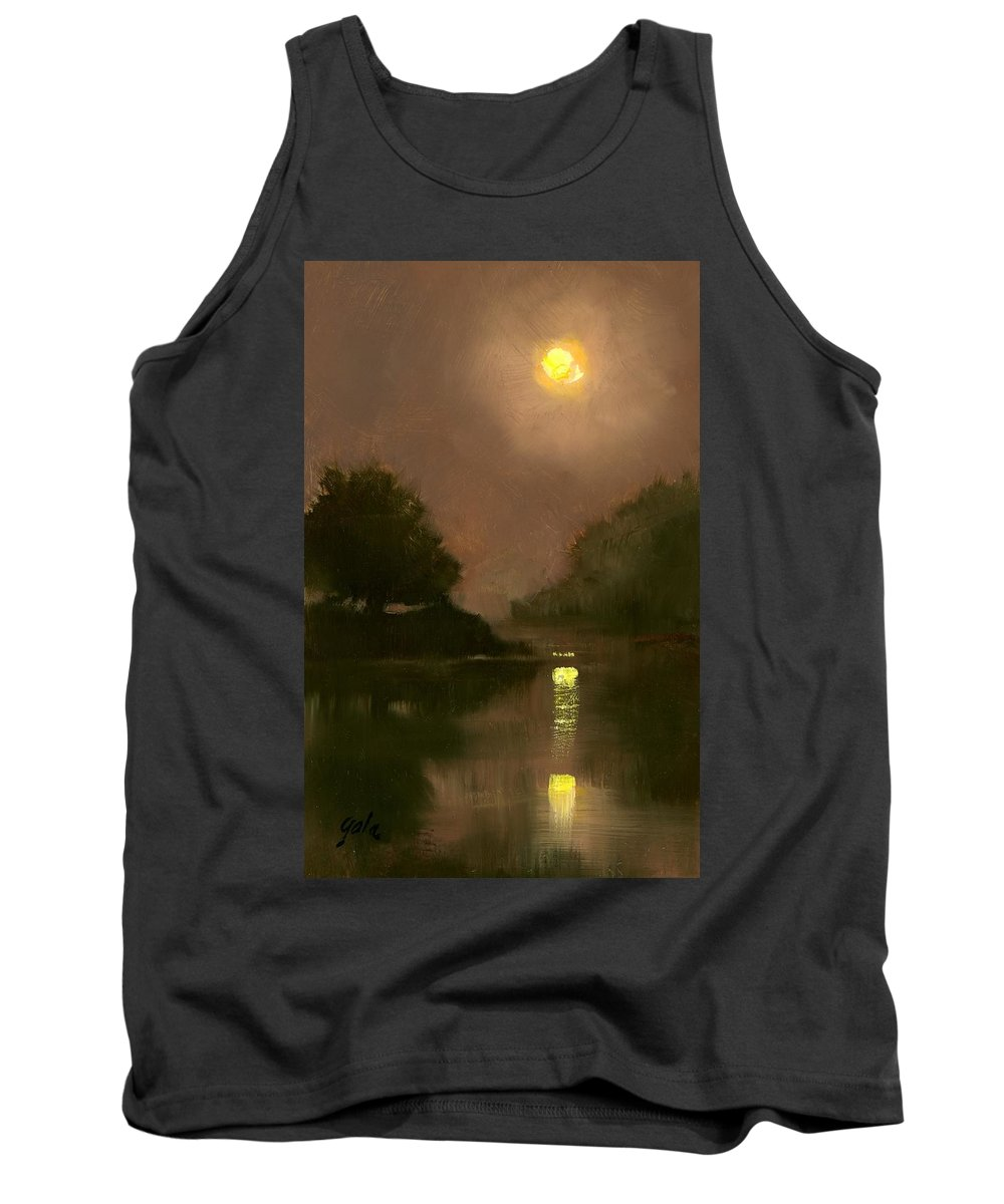 Miniatures Tank Top featuring the painting A Clear Evening by Jim Gola