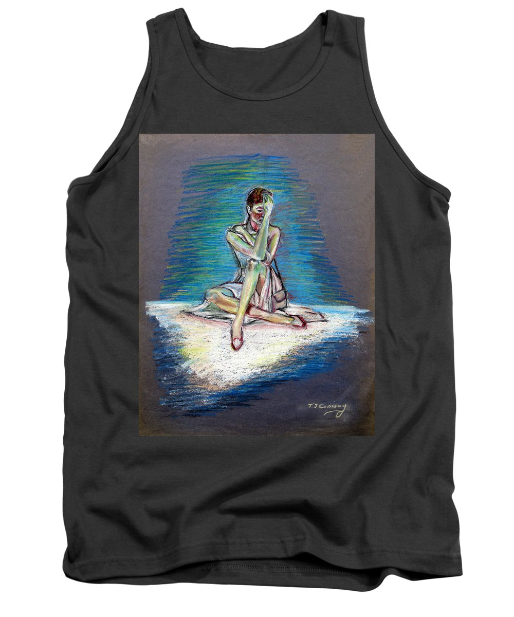 Woman Tank Top featuring the painting Bittersweet by Tom Conway