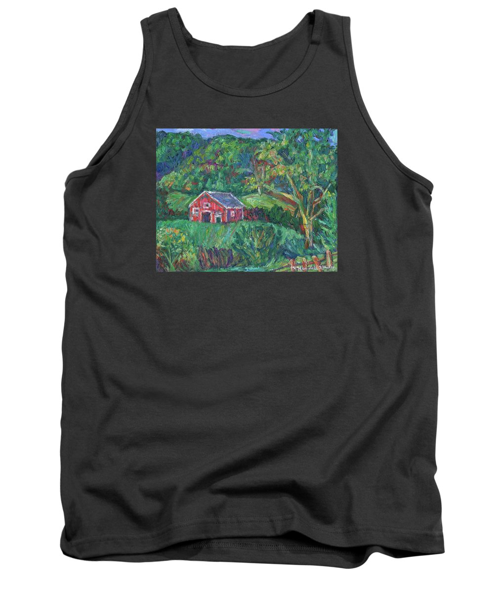 Rural Tank Top featuring the painting Clover Hollow in Giles County by Kendall Kessler