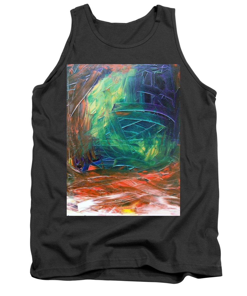 Painting Tank Top featuring the painting Forest.Part3 by Sergey Bezhinets