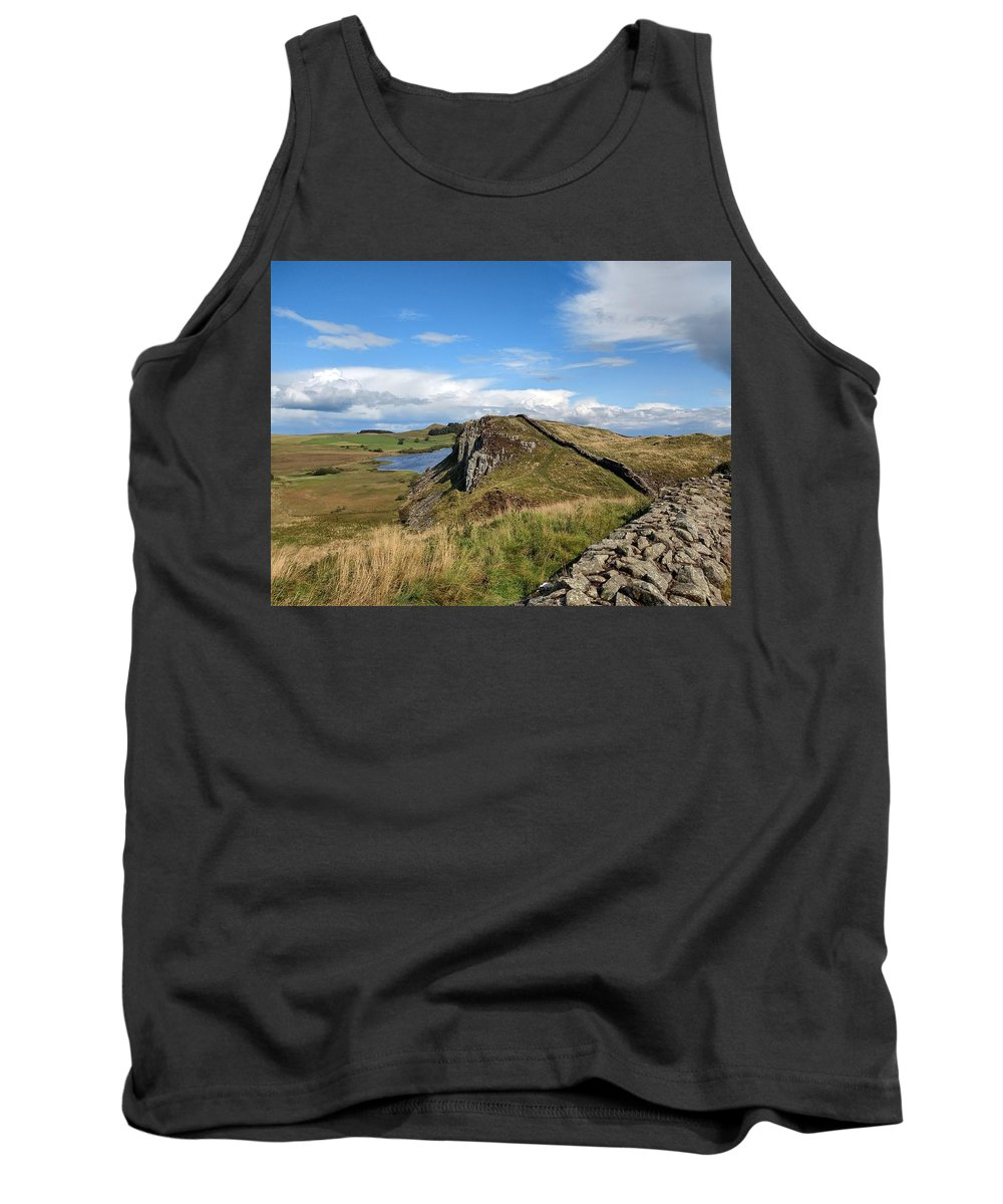 Landscape Tank Top featuring the photograph Hadrianswall by Pop