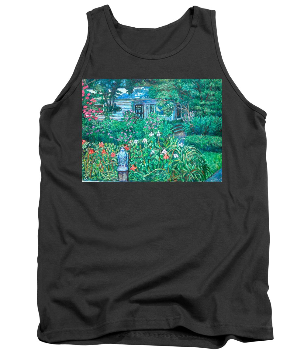 Landscape Tank Top featuring the painting House on Chesterbrook Road in McLean by Kendall Kessler