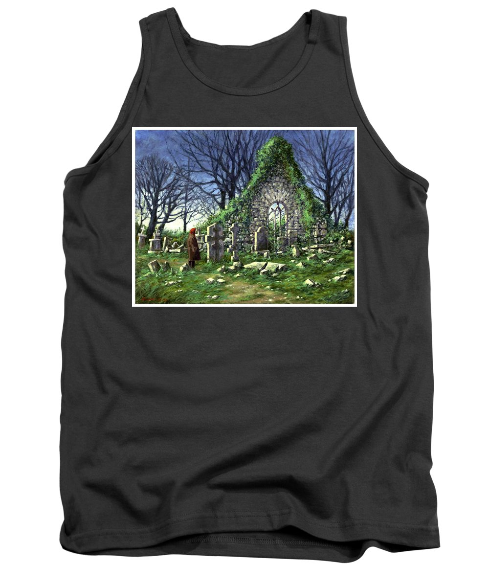 Landscape Tank Top featuring the painting Londonderry Stones by Jim Gola
