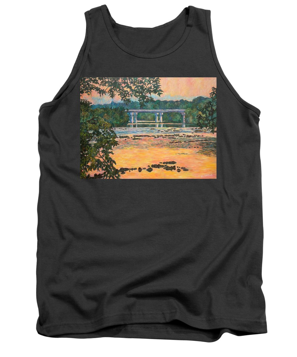Landscape Tank Top featuring the painting New Memorial Bridge at Dusk by Kendall Kessler