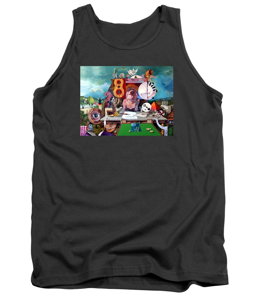 Surrealism Tank Top featuring the painting Pablos Last Concert by Otto Rapp