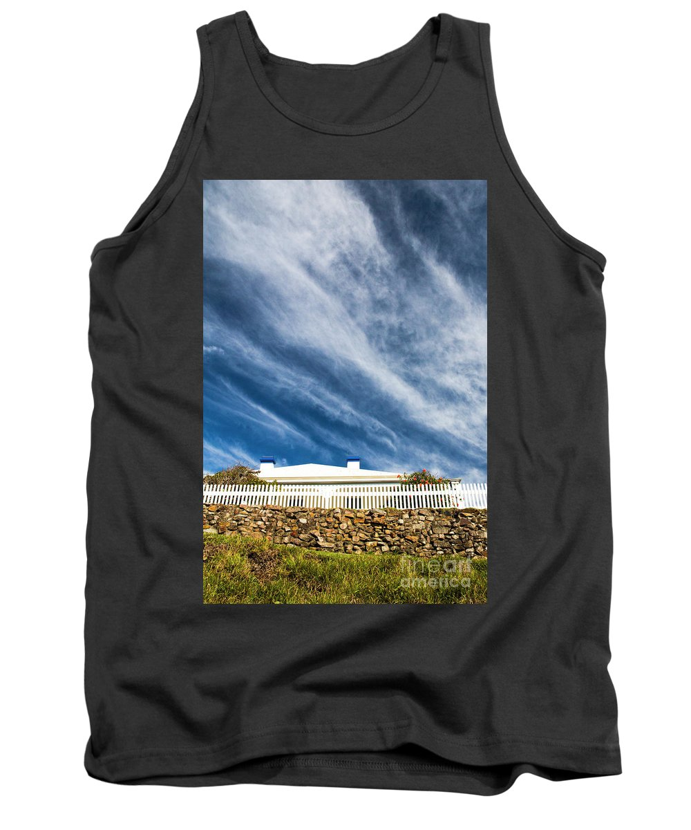 White Picket Fence Tank Top featuring the photograph Picket fence by Sheila Smart Fine Art Photography