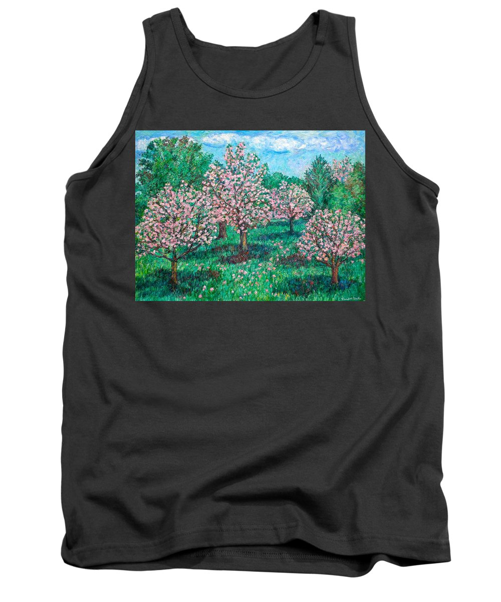 Landscape Tank Top featuring the painting Pink Wave by Kendall Kessler