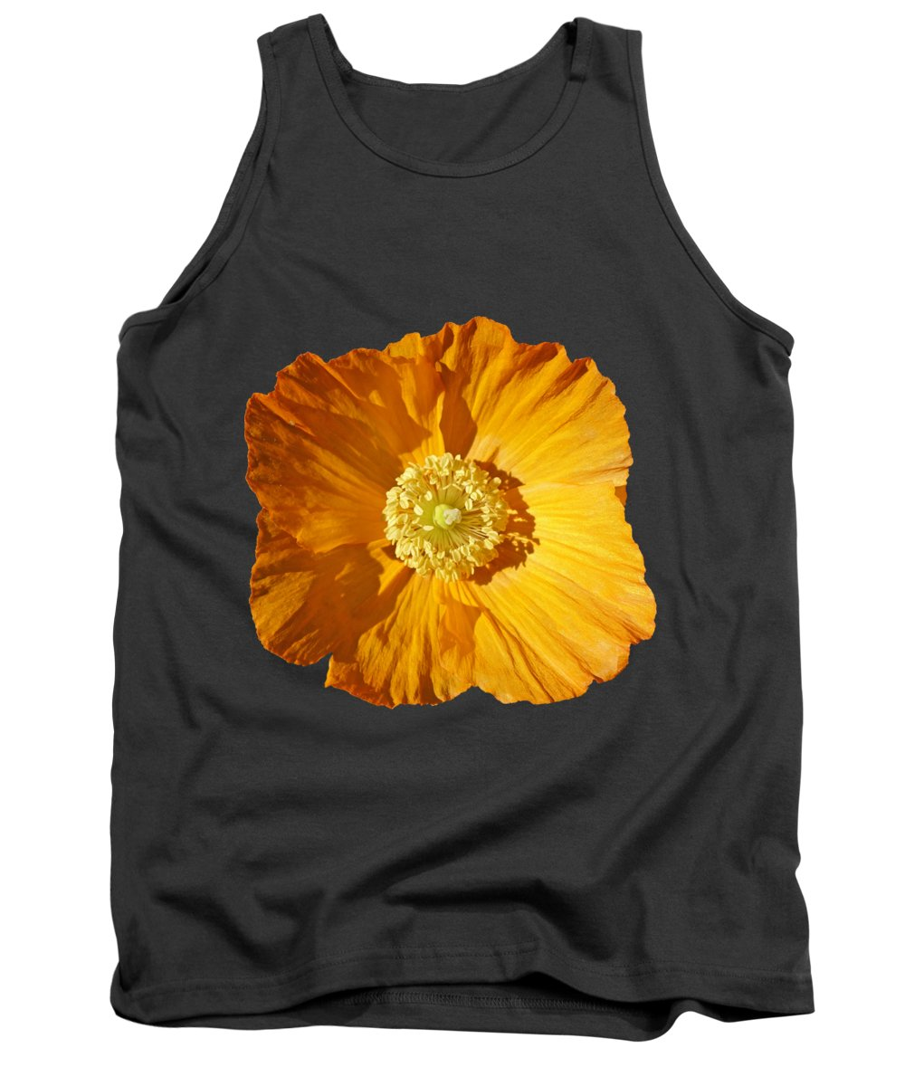 Yellow Poppy Tank Top featuring the painting Poppy by Charles Stuart