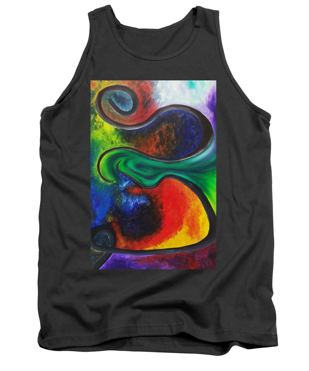 Abstract Tank Top featuring the painting Purgatory by Micah Guenther