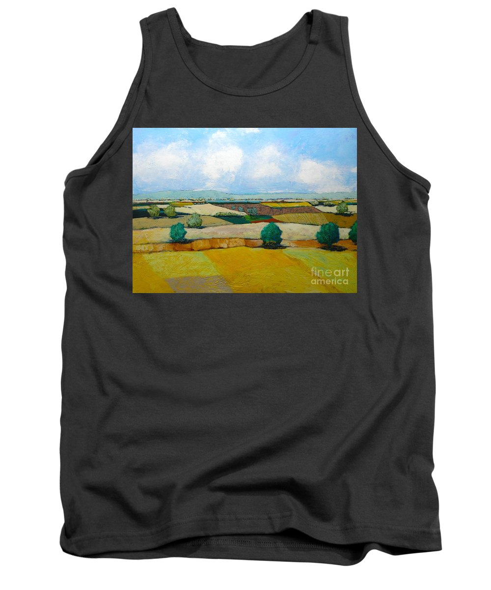 Landscape Tank Top featuring the painting Sears Point by Allan P Friedlander