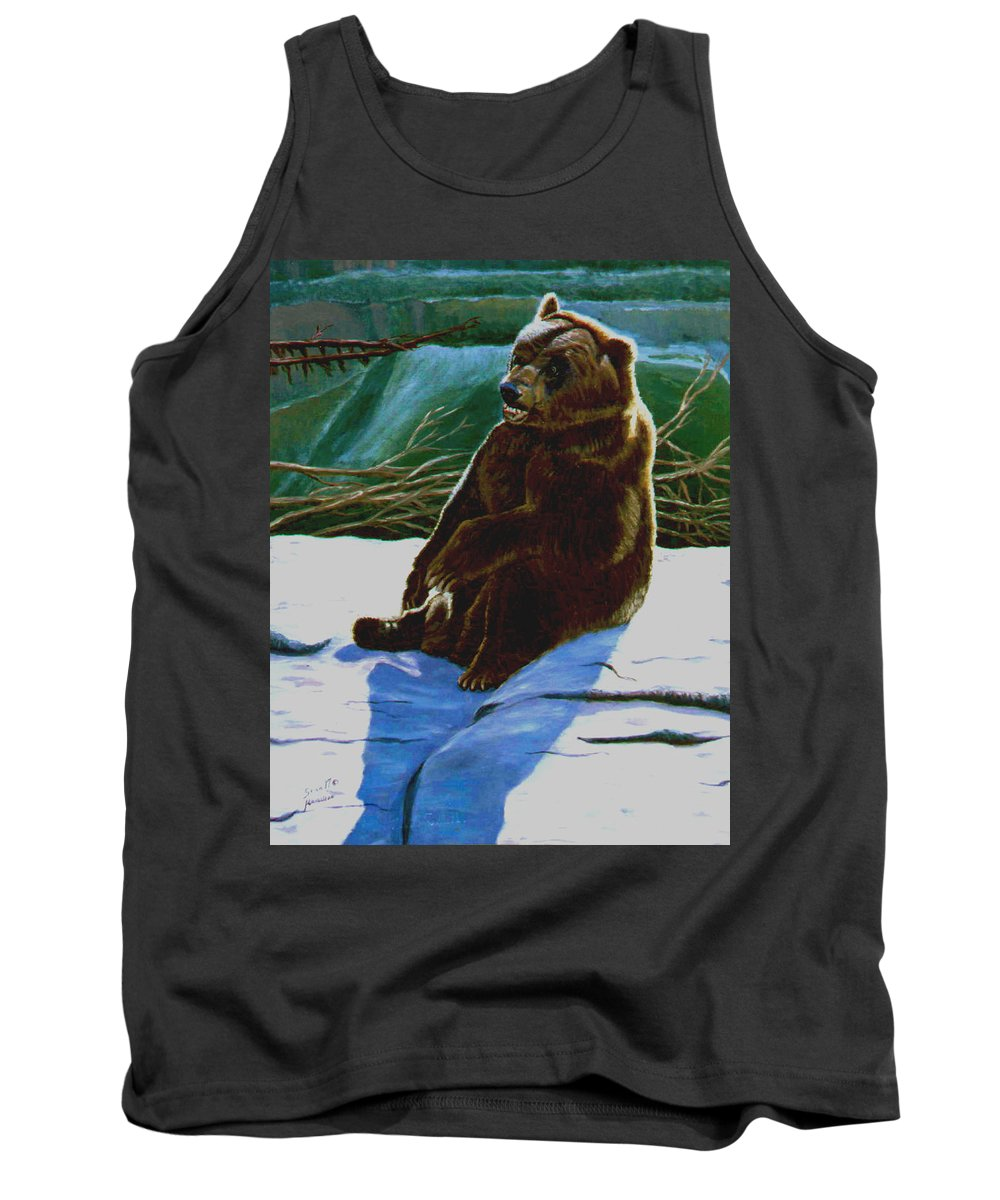 Original Oil On Canvas Tank Top featuring the painting The Bear by Stan Hamilton