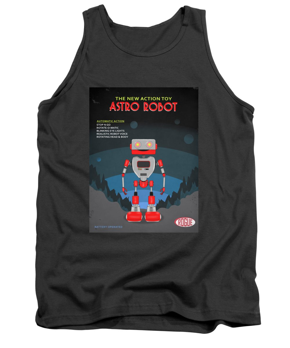 Toy Robot Tank Top featuring the photograph The Toy Astro Robot by Mark Rogan