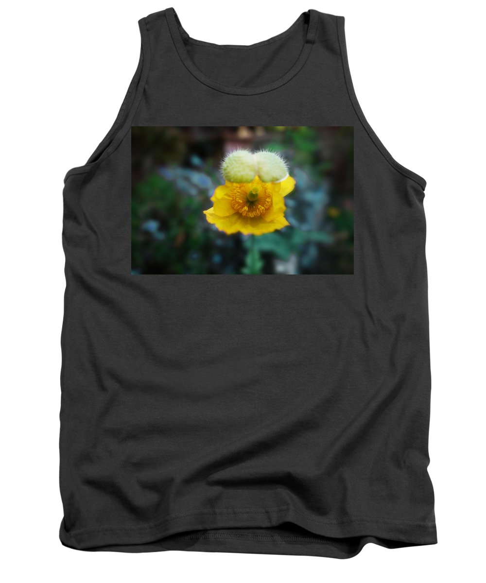 Poppy Tank Top featuring the painting This Moment by Charles Stuart