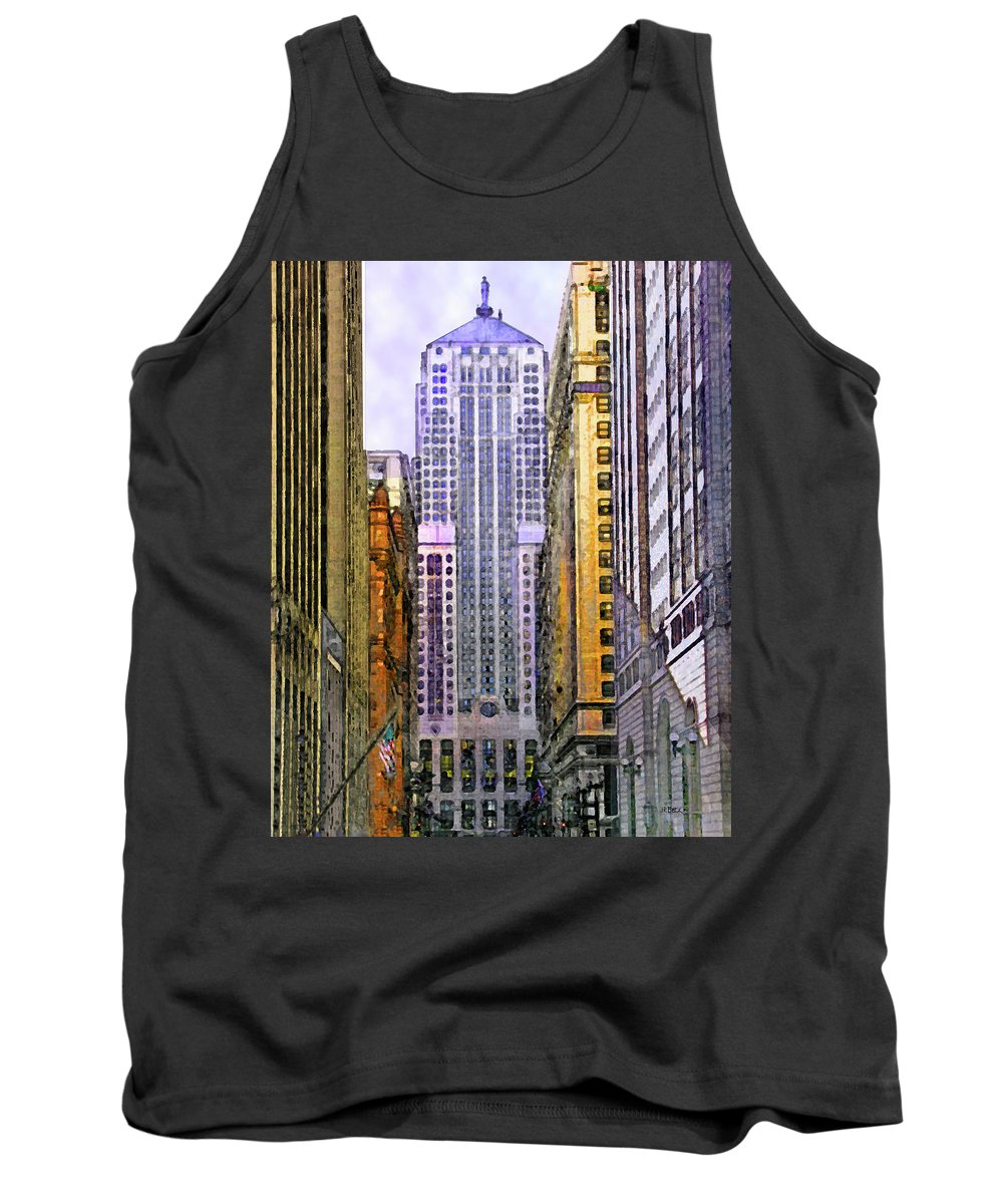 Trading Places Tank Top featuring the digital art Trading Places by John Robert Beck