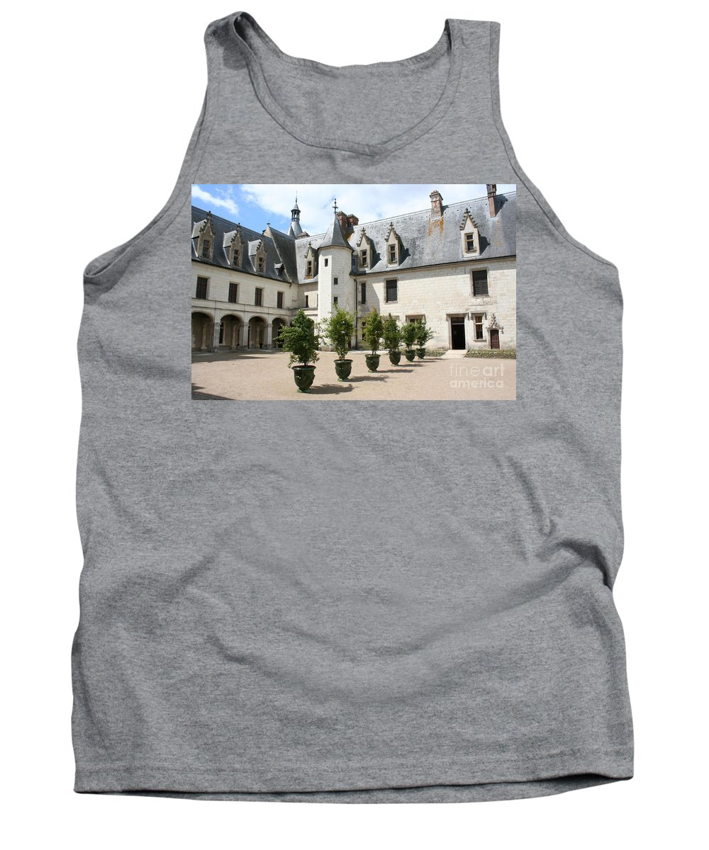 Palace Tank Top featuring the photograph Courtyard Chateau Chaumont by Christiane Schulze Art And Photography