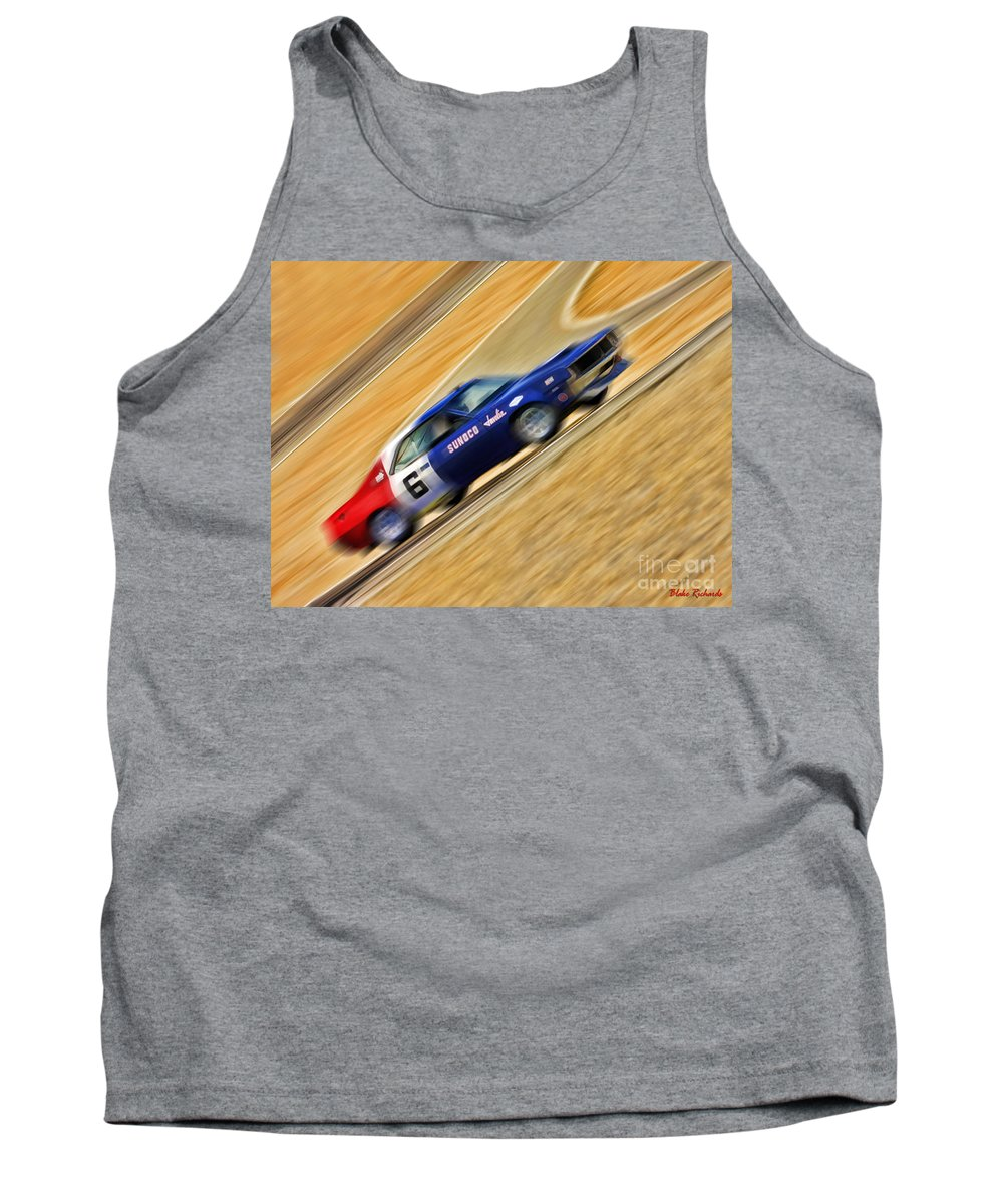Mark Donahue Tank Top featuring the photograph Mark Donohue 1970 Amc Javelin by Blake Richards