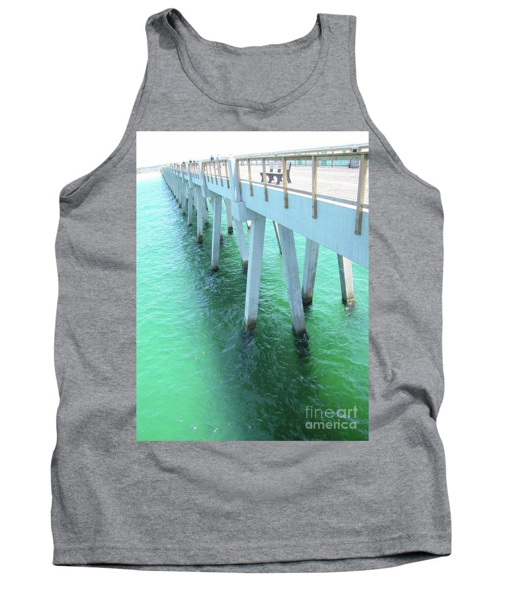 Fishing Pier Tank Top featuring the photograph Navarre Beach Fishing Pier by Michelle Powell