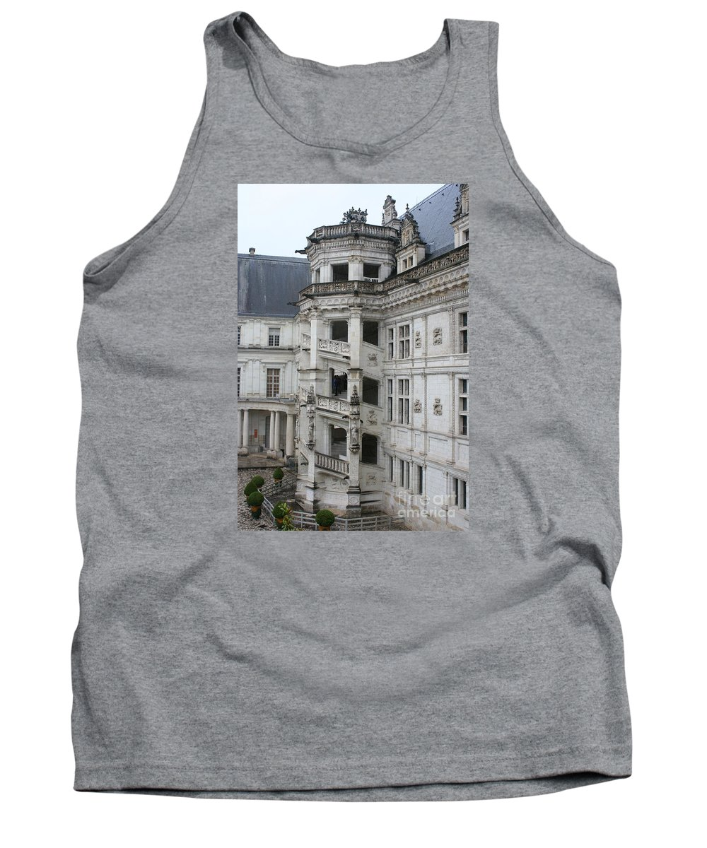 Stairs Tank Top featuring the photograph Spiral Staircase In The Francois I Wing - Chateau Blois by Christiane Schulze Art And Photography