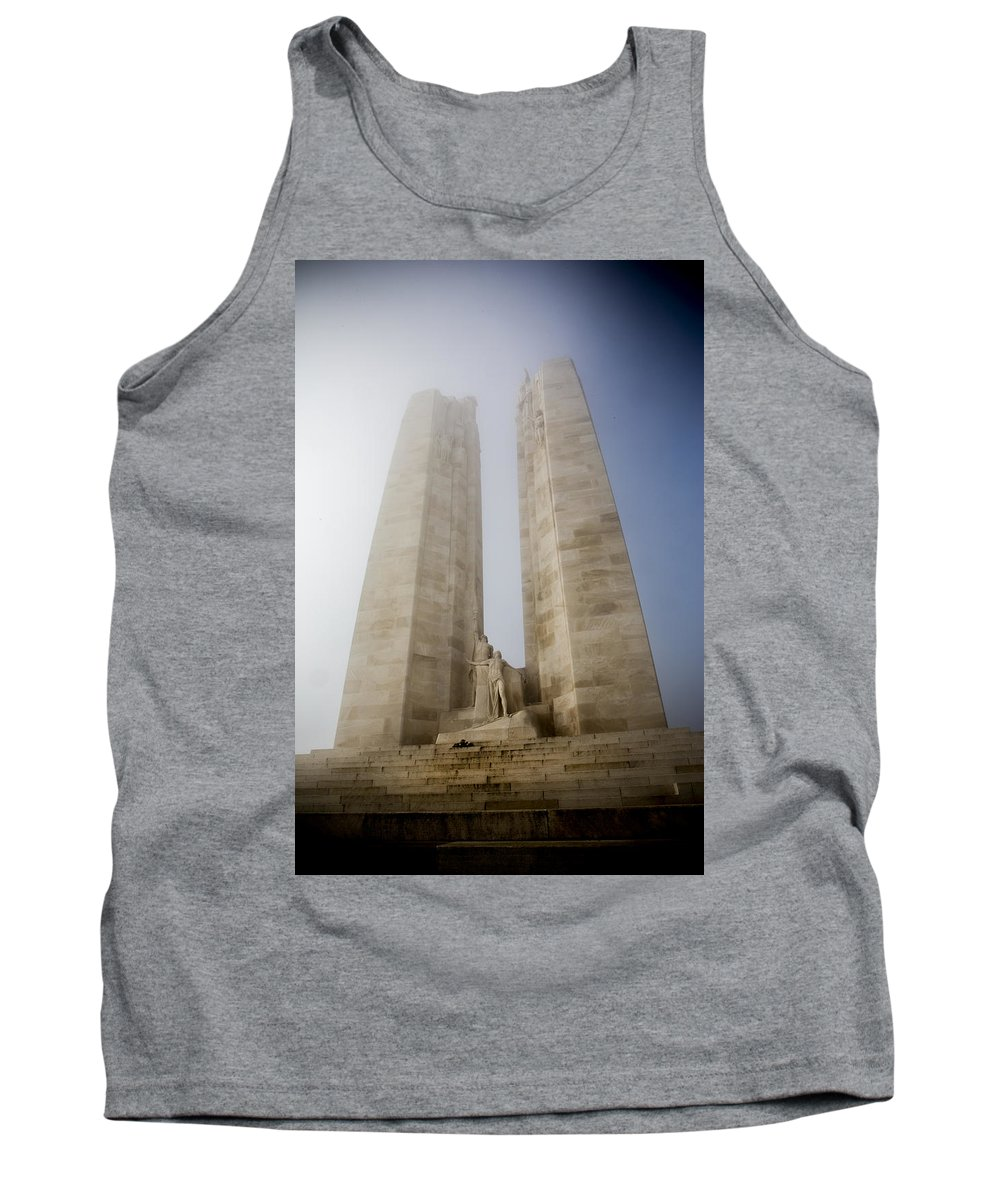 Memorial Tank Top featuring the photograph Towers In The Mist by David Hare