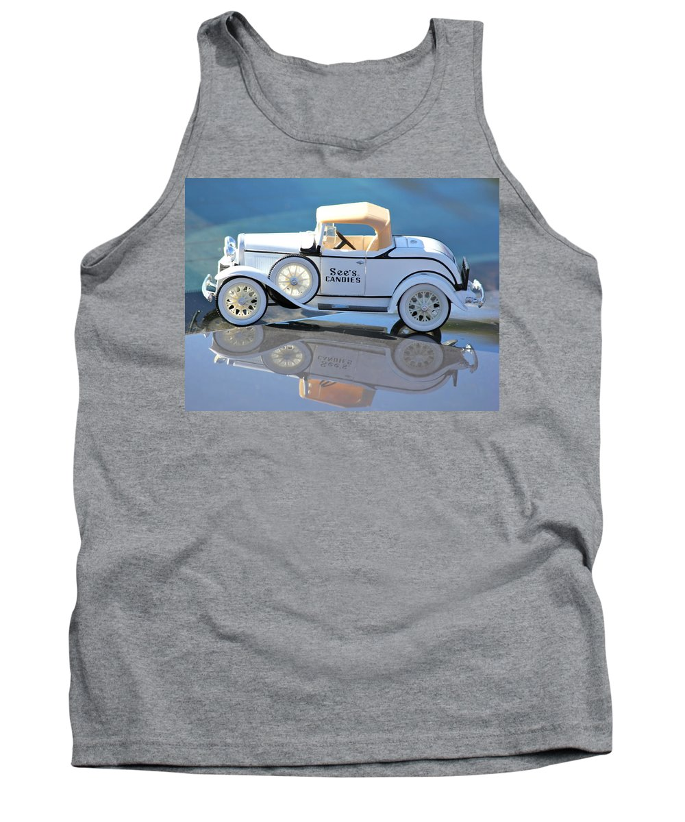 See's Candies Tank Top featuring the photograph Vintage Car by Lorna Maza