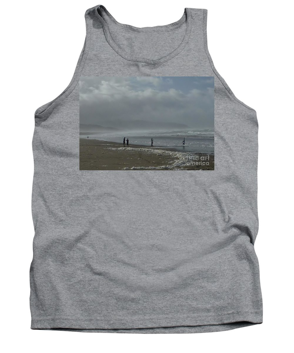 Landscape Tank Top featuring the photograph Wave Handstand by Susan Garren