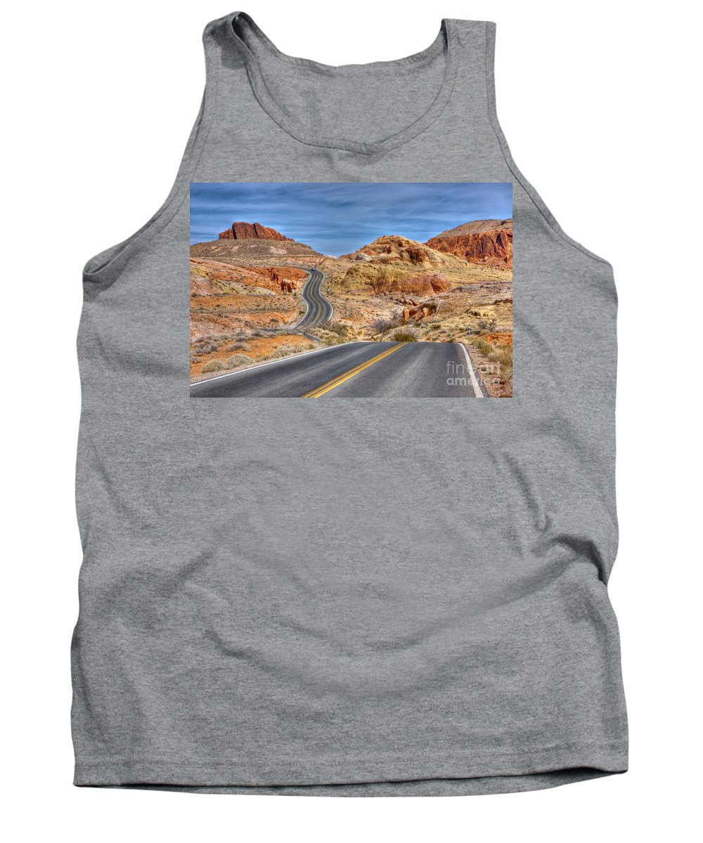 Valley Tank Top featuring the photograph 0445 Valley Of Fire Nevada by Steve Sturgill