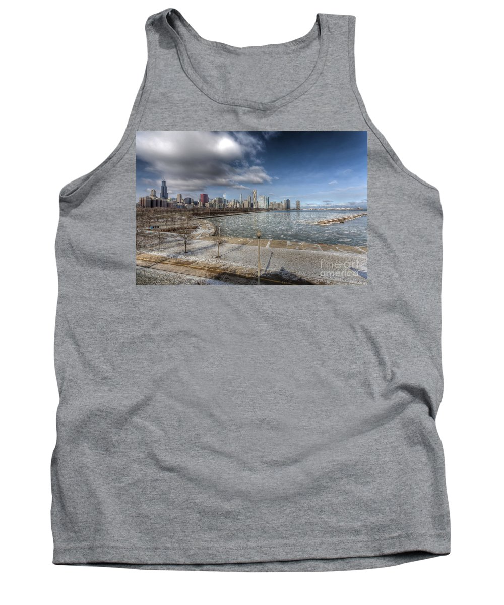 Trump Tank Top featuring the photograph 0488 Chicago Skyline by Steve Sturgill