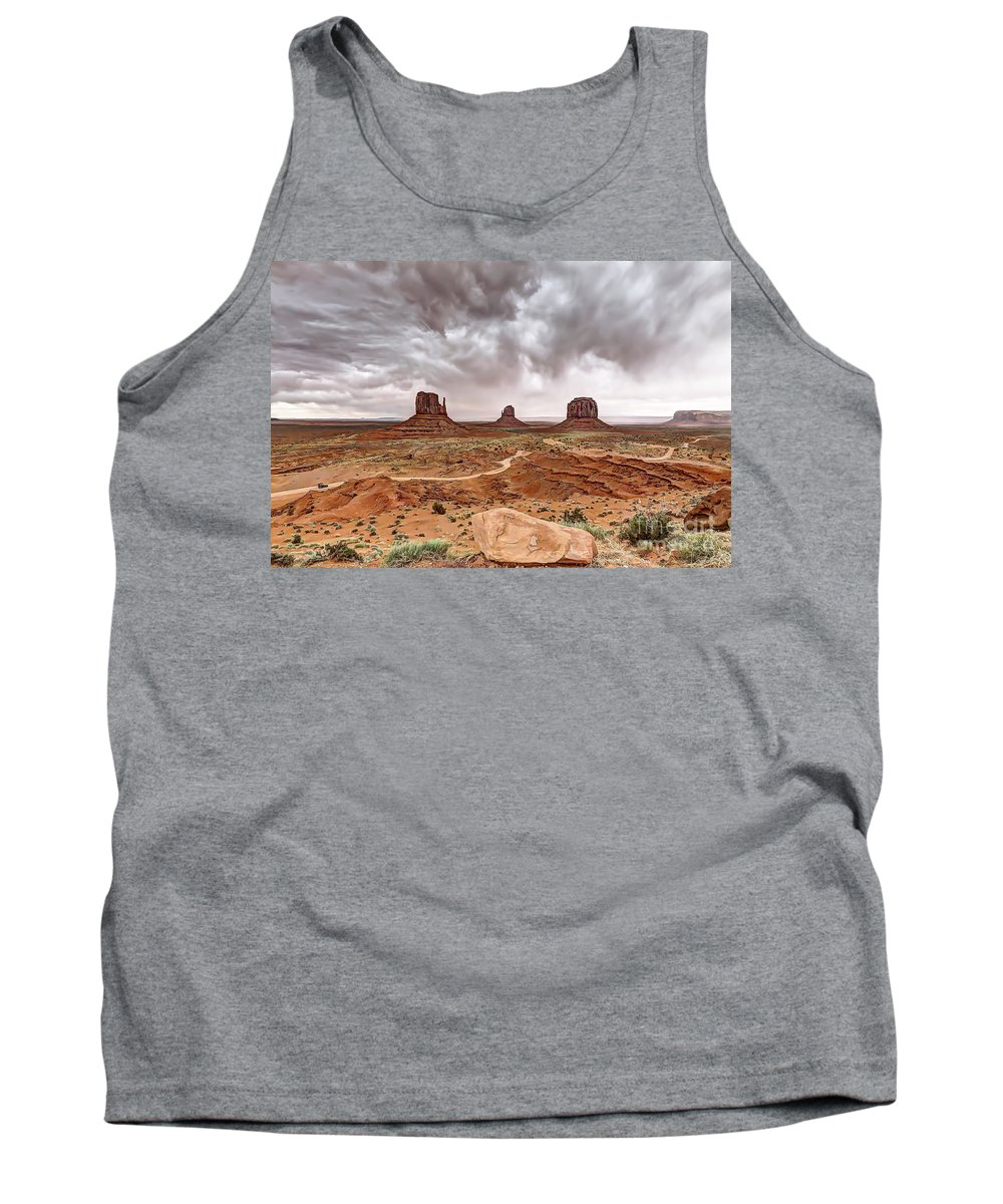 Monument Tank Top featuring the photograph 0883 Monument Valley by Steve Sturgill