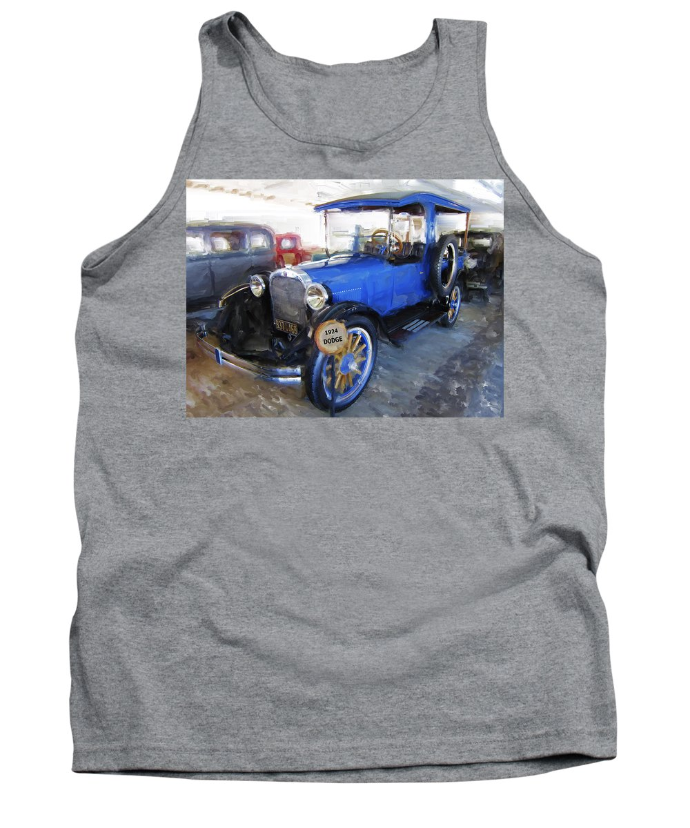 Dodge Tank Top featuring the digital art 1924 Dodge Express Wagon by Daniel Hagerman