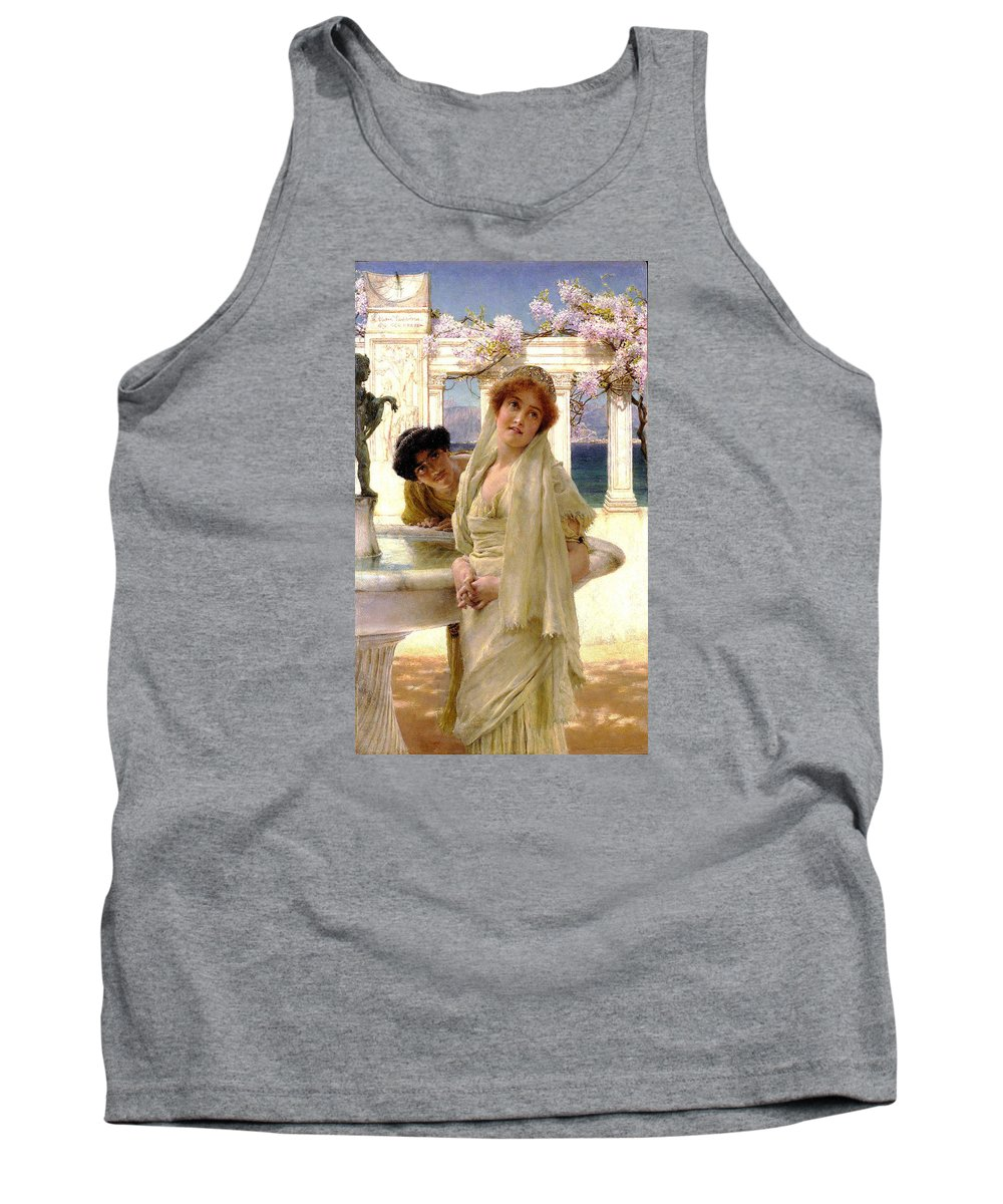 A Difference Of Opinion Tank Top featuring the digital art A Difference Of Opinion by Sir Lawrence Alma Tadema