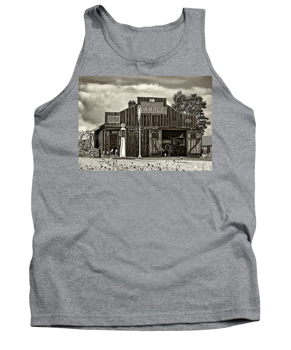 The Past Tank Top featuring the photograph A Simpler Time Sepia by Steve Harrington
