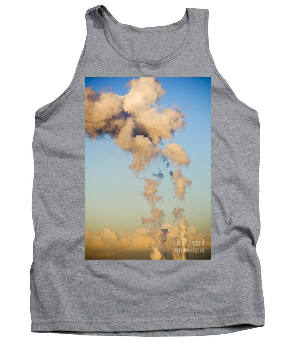 Burn Tank Top featuring the photograph Air Pollution by Tim Hester