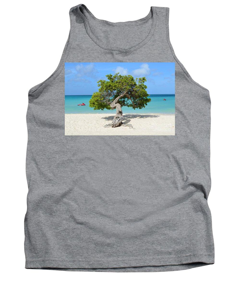 Divi Tank Top featuring the photograph Aruba Divi Divi Tree by DejaVu Designs