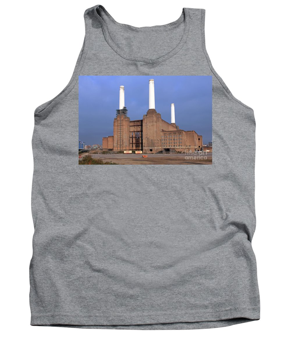 Battersea Power Station Tank Top featuring the photograph Battersea Power Station by Julia Gavin