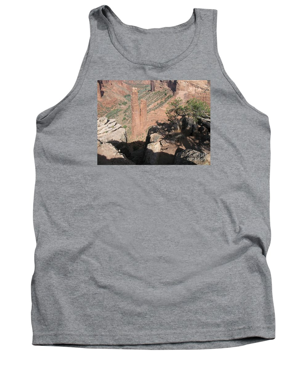 Canyon Tank Top featuring the photograph Canyon De Chelly Spider Rock by Christiane Schulze Art And Photography