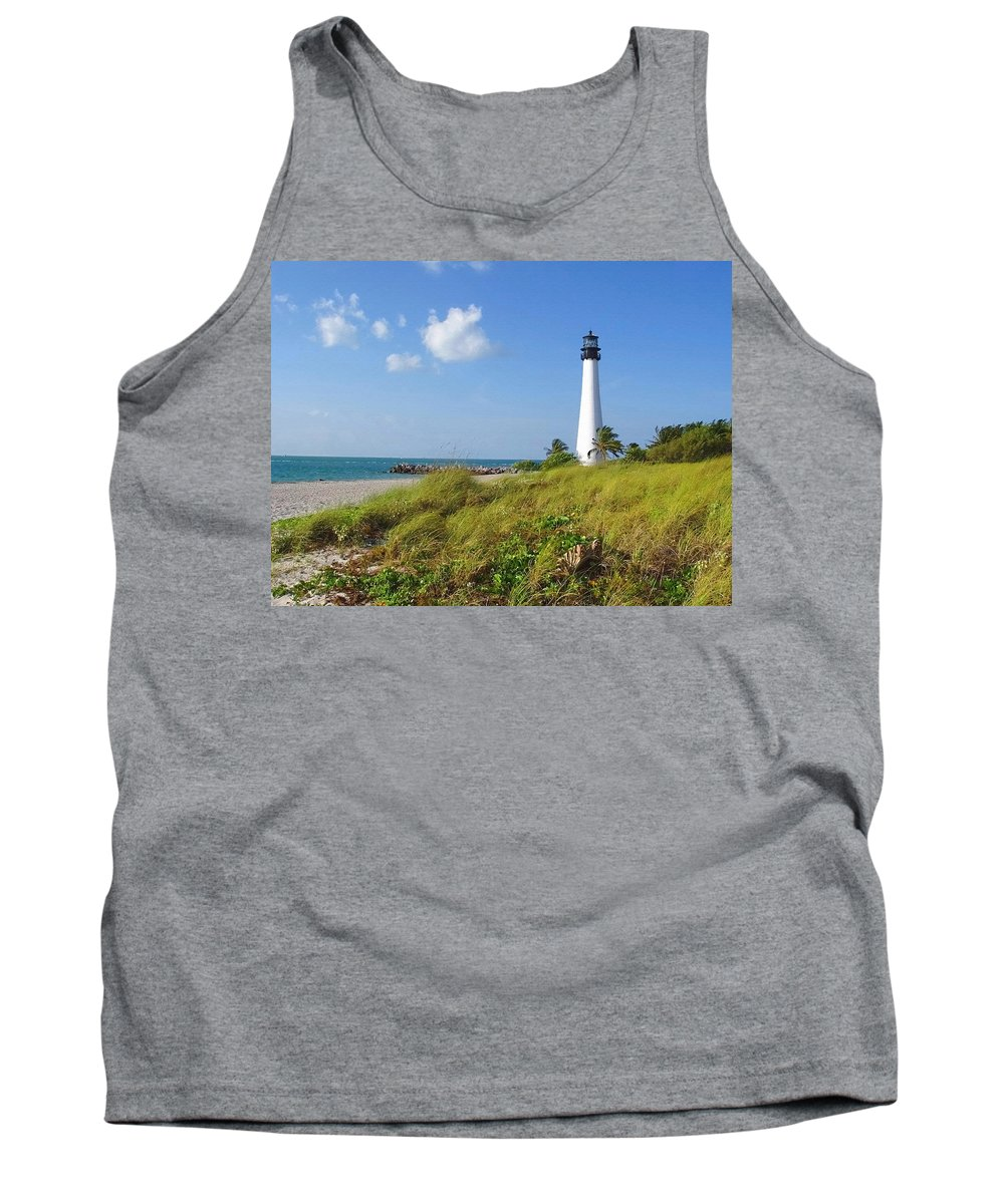 Cape Florida Lighthouse Tank Top featuring the photograph Cape Florida Lighthouse by Ellen Henneke