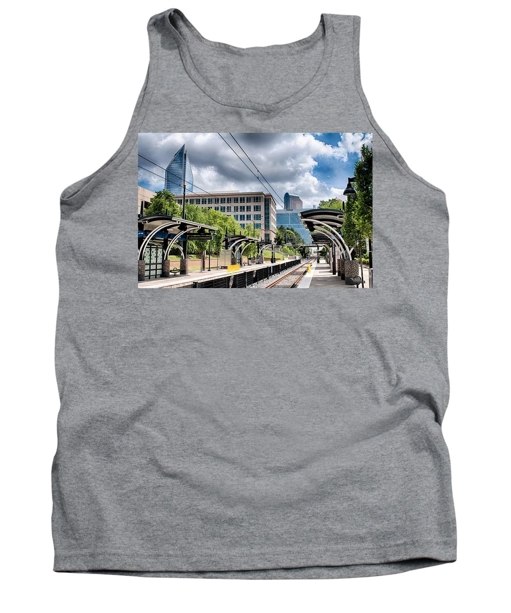 City Tank Top featuring the photograph City Streets Of Charlotte North Carolina by Alex Grichenko