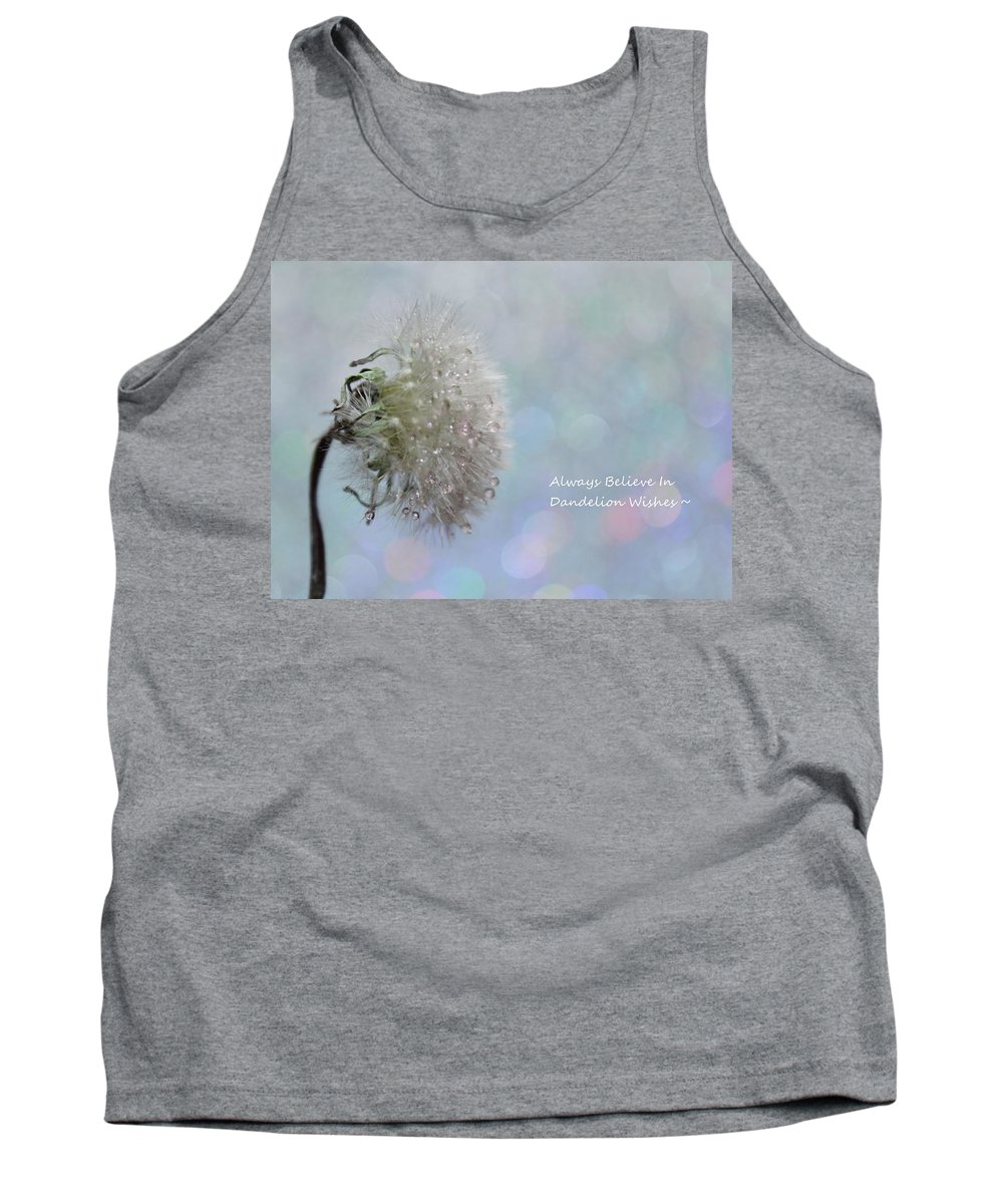 Dandelion Tank Top featuring the photograph Dandelion Wishes by Krissy Katsimbras
