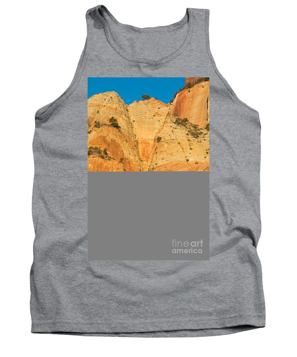 Autumn Tank Top featuring the photograph Dawn At Bridge Mountain by Fred Stearns