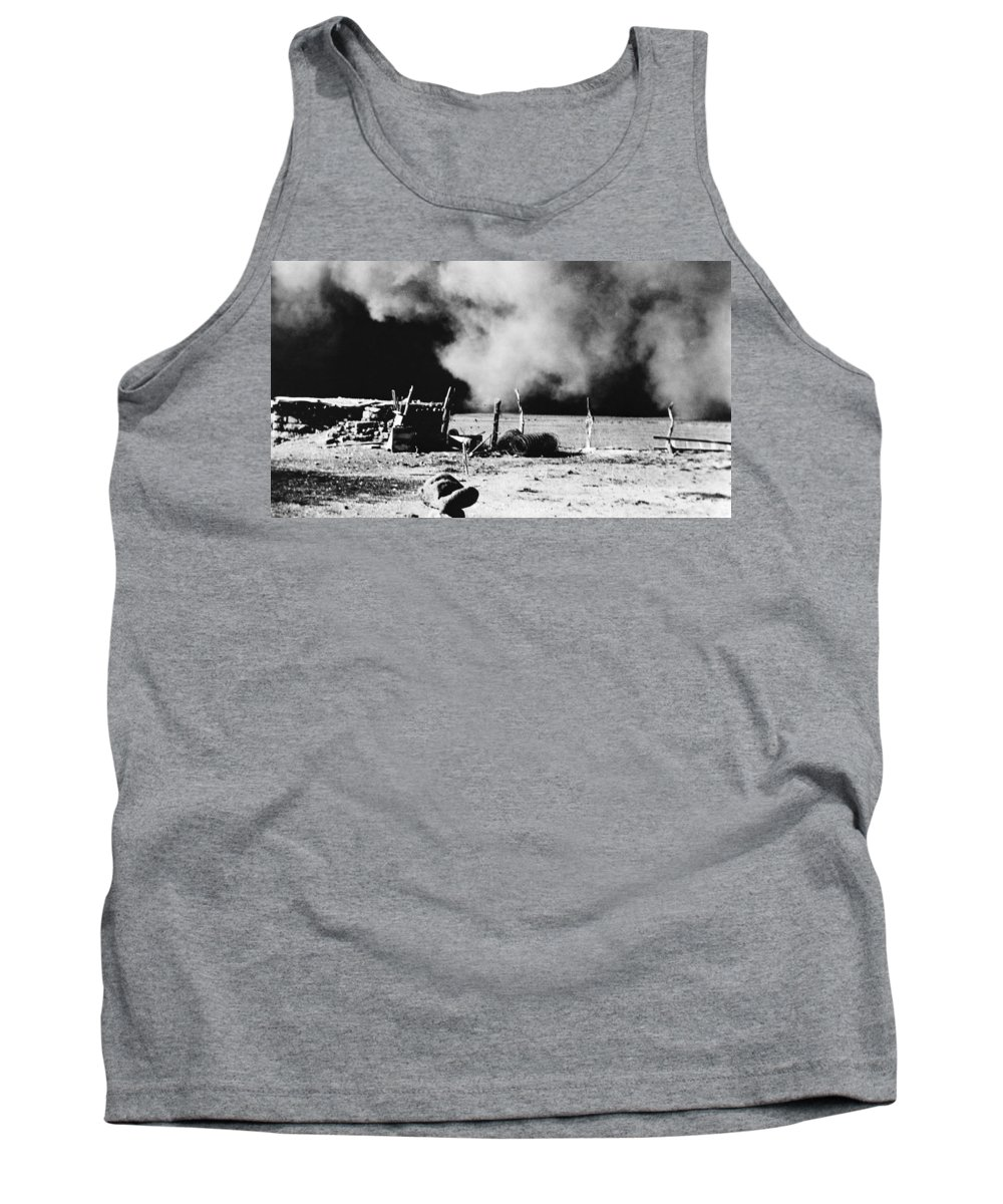 1935 Tank Top featuring the photograph Dust Bowl, 1935 by Granger