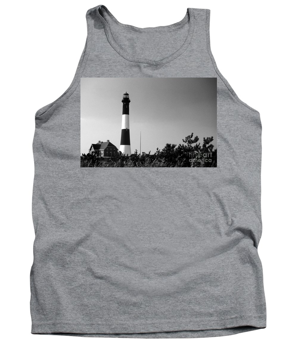 Lighthouses Tank Top featuring the photograph Fire Island Lighthouse by Skip Willits