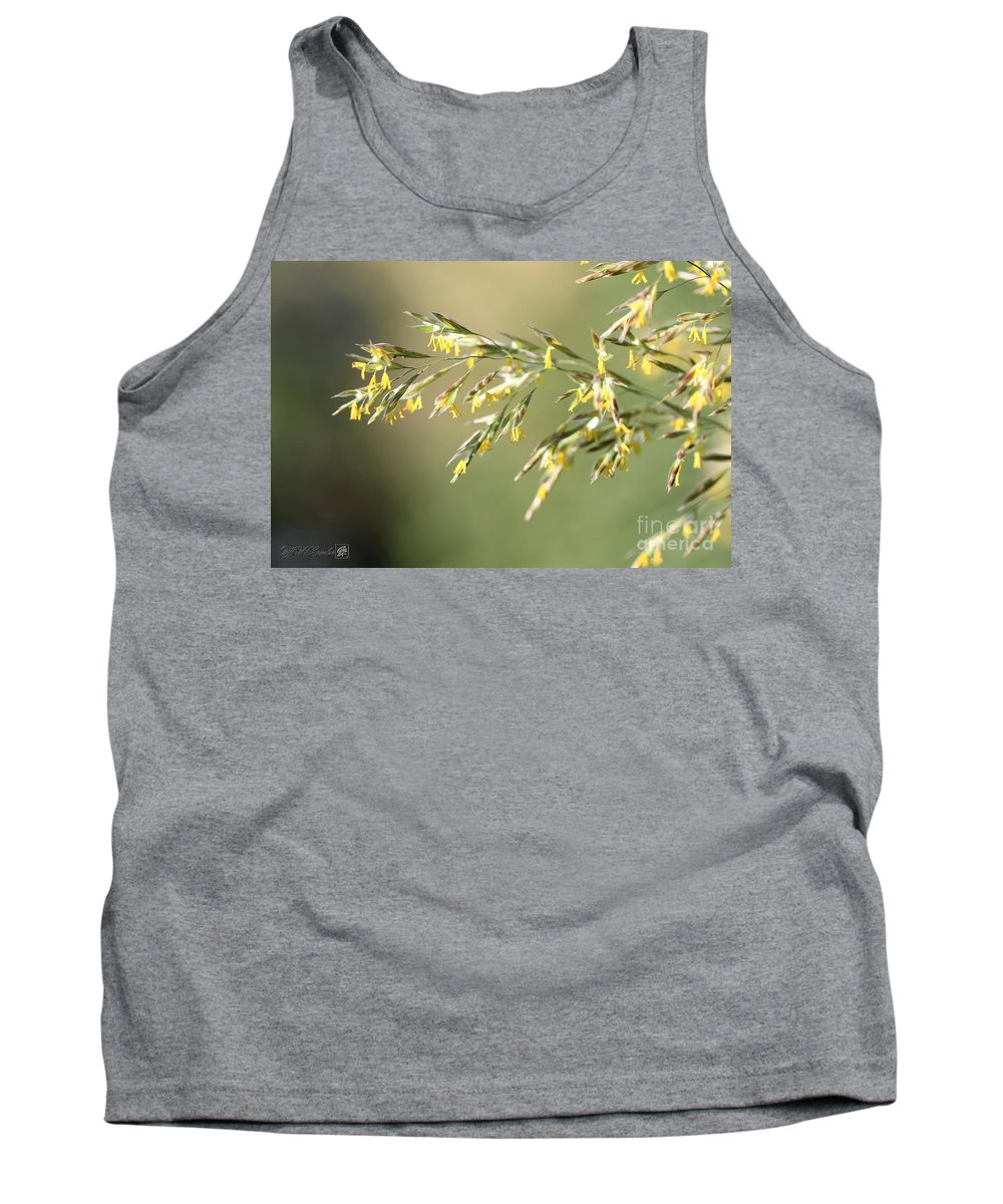Mccombie Tank Top featuring the photograph Flowering Brome Grass by J McCombie