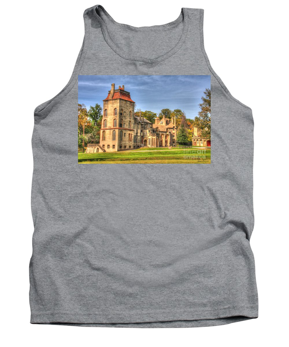 Fonthill Tank Top featuring the photograph Fonthill Castle by Traci Law