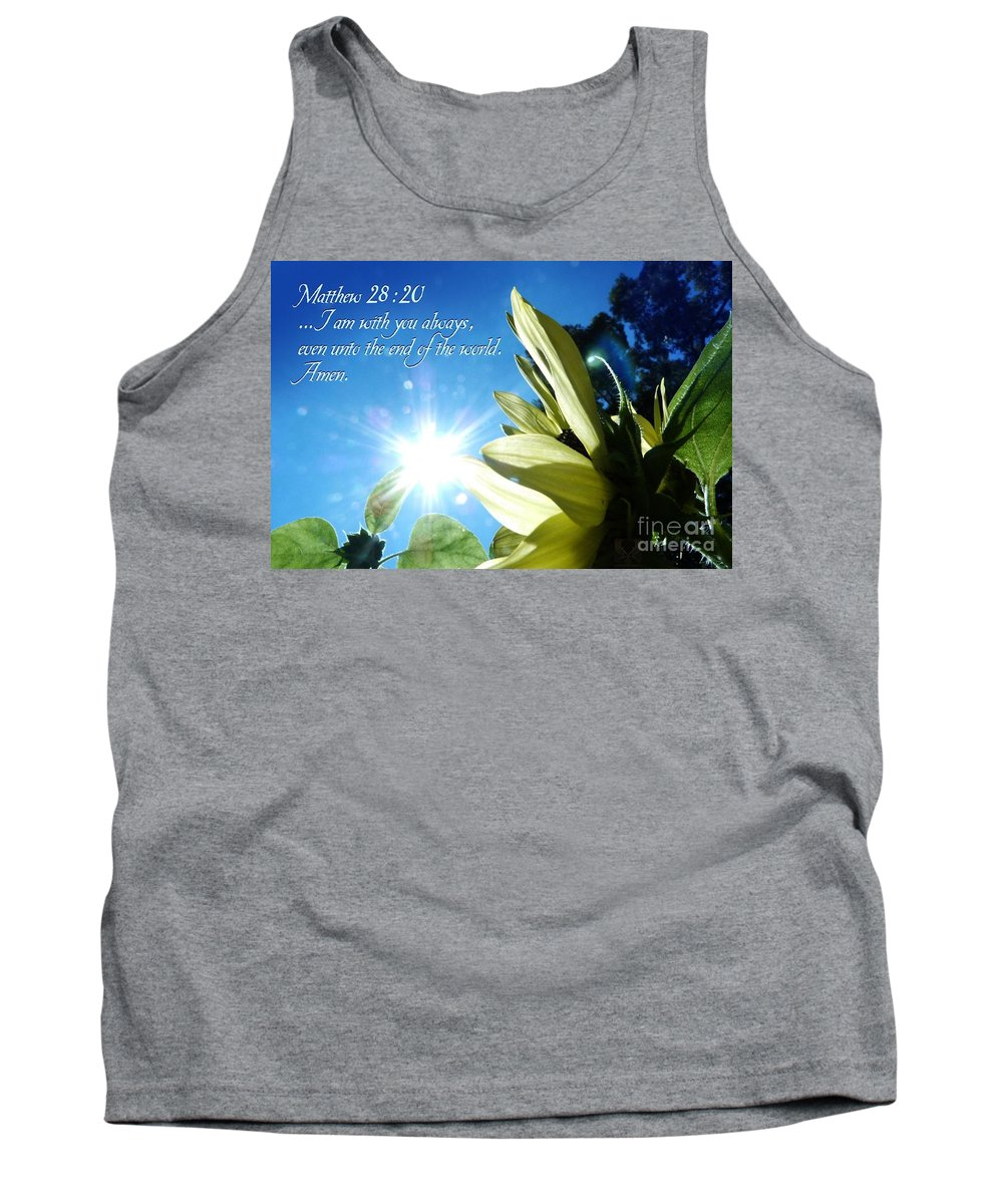 Bible Tank Top featuring the photograph 1 I Am With You Always by Dale Crum