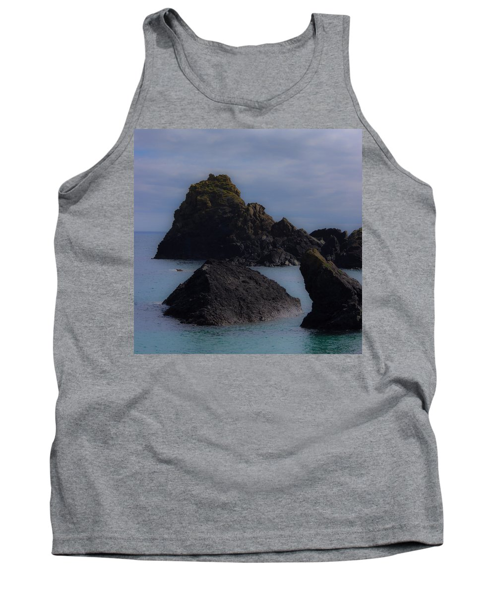 Kynance Tank Top featuring the photograph Kynance Cove Cornwall by Martin Newman